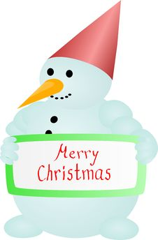 Free Snow Man Royalty Free Stock Photo - 17236835
