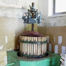 Wine Press Stock Image