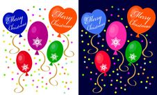 Christmas Balloons Royalty Free Stock Photos