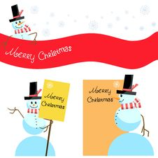 Christmas Banner Set Stock Photos