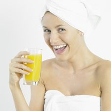 Free Woman With A Glass Of Juice Stock Photography - 17237472