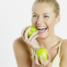 Free Woman With Apples Royalty Free Stock Photos - 17237488