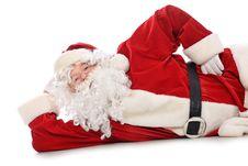 Free Lying Santa Royalty Free Stock Images - 17237579
