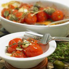 Free Warm Tomato Salad Stock Photography - 17237702