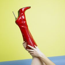 Free Red Boot Stock Photos - 17237723