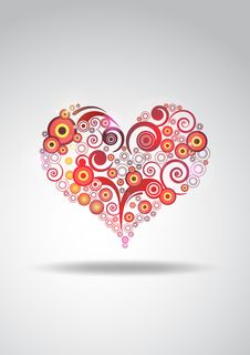 Free Valentine Abstract Hearth Stock Image - 17237841