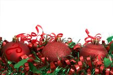Free Red Christmas Baubles Stock Photo - 17237910