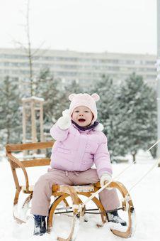 Free Sledding In Snow Stock Image - 17238141