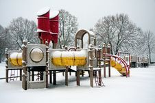 Free Playground In The Snow Stock Photography - 17238242