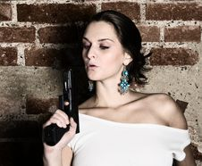 Free Gun In Actions Royalty Free Stock Photos - 17238468
