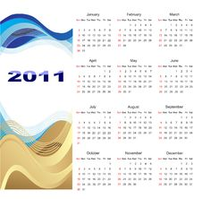 Free Calendar 2011 Royalty Free Stock Photography - 17238607