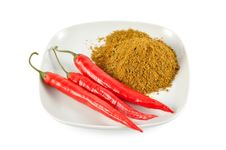Red Chilli And Spices Stock Photos