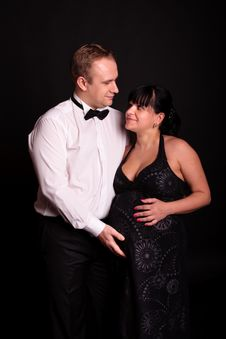 Free Pregnant Woman  With Her Husband Stock Photos - 17239043