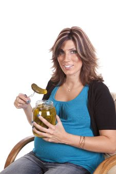 Free Getting Ready To Eat Pickle Royalty Free Stock Photos - 17239528