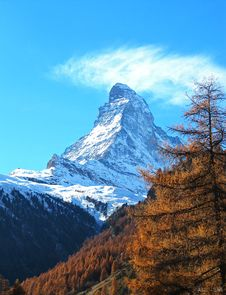 Matterhorn Mountain Royalty Free Stock Photos