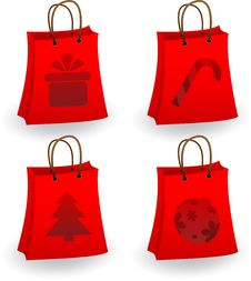 Free Christmas Shopping Bags Royalty Free Stock Photos - 17239718