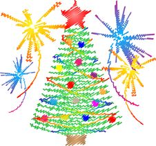 Free New Year And Christmas Tree Stock Images - 17239824