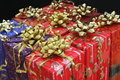 Free Nine Christmas Packages With Stars Royalty Free Stock Images - 17240409