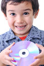 Free Boy And Cd Dvd Royalty Free Stock Images - 17241579