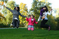 Free Happy Family In The Park Stock Photography - 17244982