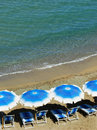 Free Beach Umbrellas And Beach Chairs Stock Image - 17247001