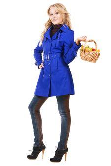 Free Autumn Girl Royalty Free Stock Photos - 17240068