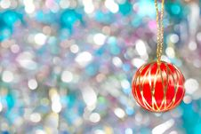 Free Red Christmas Ball Background Royalty Free Stock Photo - 17240135