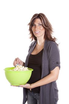 Free Pregnant With Popcorn Stock Photography - 17240432
