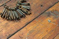 Free Rusty Keys Royalty Free Stock Photography - 17240507