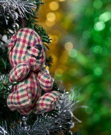 Free Christmas Bear Royalty Free Stock Photos - 17240948