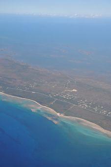 Aerial View Of Grand Bahama Island Stock Photos