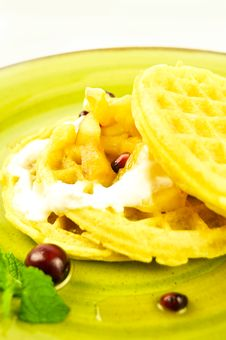 Waffles Breakfast Stock Images