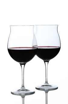 Free Wine Glasses Half Full Royalty Free Stock Photography - 17242077