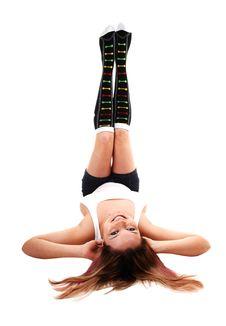 Free Girl Lying On Floor. Royalty Free Stock Photo - 17242135