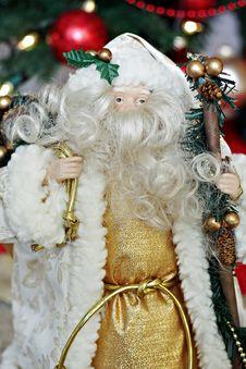 Free Golden Santa Royalty Free Stock Photography - 17242197