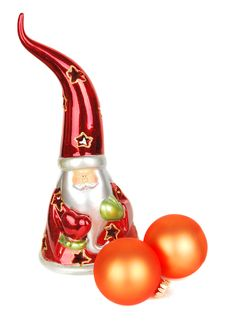 Free Glass Santa Candelstick Royalty Free Stock Image - 17242386