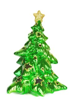 Free Christmas Tree And Orange Ball Royalty Free Stock Images - 17242429