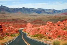 Free Valley Of Fire Scenic Drive Royalty Free Stock Photography - 17242907