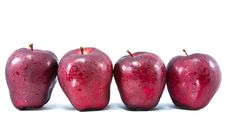 Free Four Red Apple Royalty Free Stock Photography - 17243117