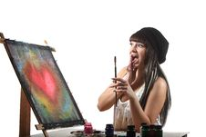 Free Artist At Work Royalty Free Stock Images - 17244669