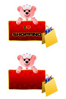 Free Teddy Bear, Shopping, Background, Frame Royalty Free Stock Image - 17244766