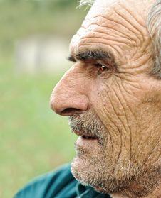 Senior Man Looking Stock Photo