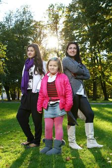 Free Happy Family In The Park Stock Photo - 17244980