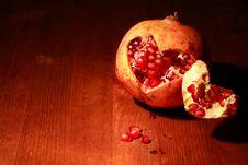 Free Pomegranate On Wood Stock Photos - 17245063