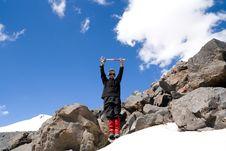 Teenager On A Mountain Stock Photo