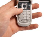 Free Cell Phone In Hand Royalty Free Stock Photography - 17245537