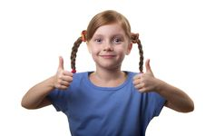 Two Thumbs Up! Stock Images