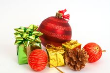 Free Red Christmas Baubles And Other Decorations Royalty Free Stock Photos - 17247718