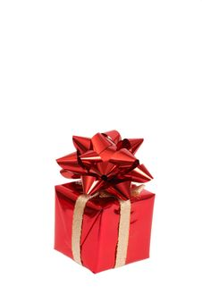 Free Red Gift Box With A Bow Stock Photo - 17247720