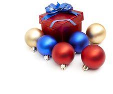 Free Matt Christmas Balls Royalty Free Stock Photography - 17247787